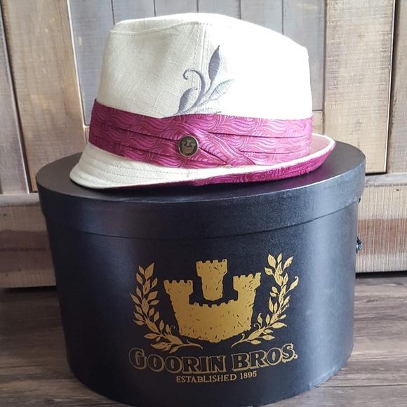 924e2d75053de4 Goorin Bros. Accessories | Goorin Bros Shady Gwen Cream Fuchsia ...